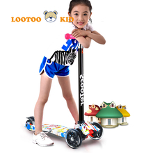 Cheap price OEM service nylon board 4 wheels kick big kids scooter