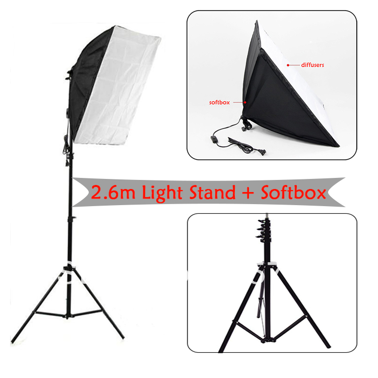 2.6m light stand with soft box, photo studio,photography shooting