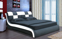 Modern Appearance and Home Furniture General Use italian faux leather sleigh bed