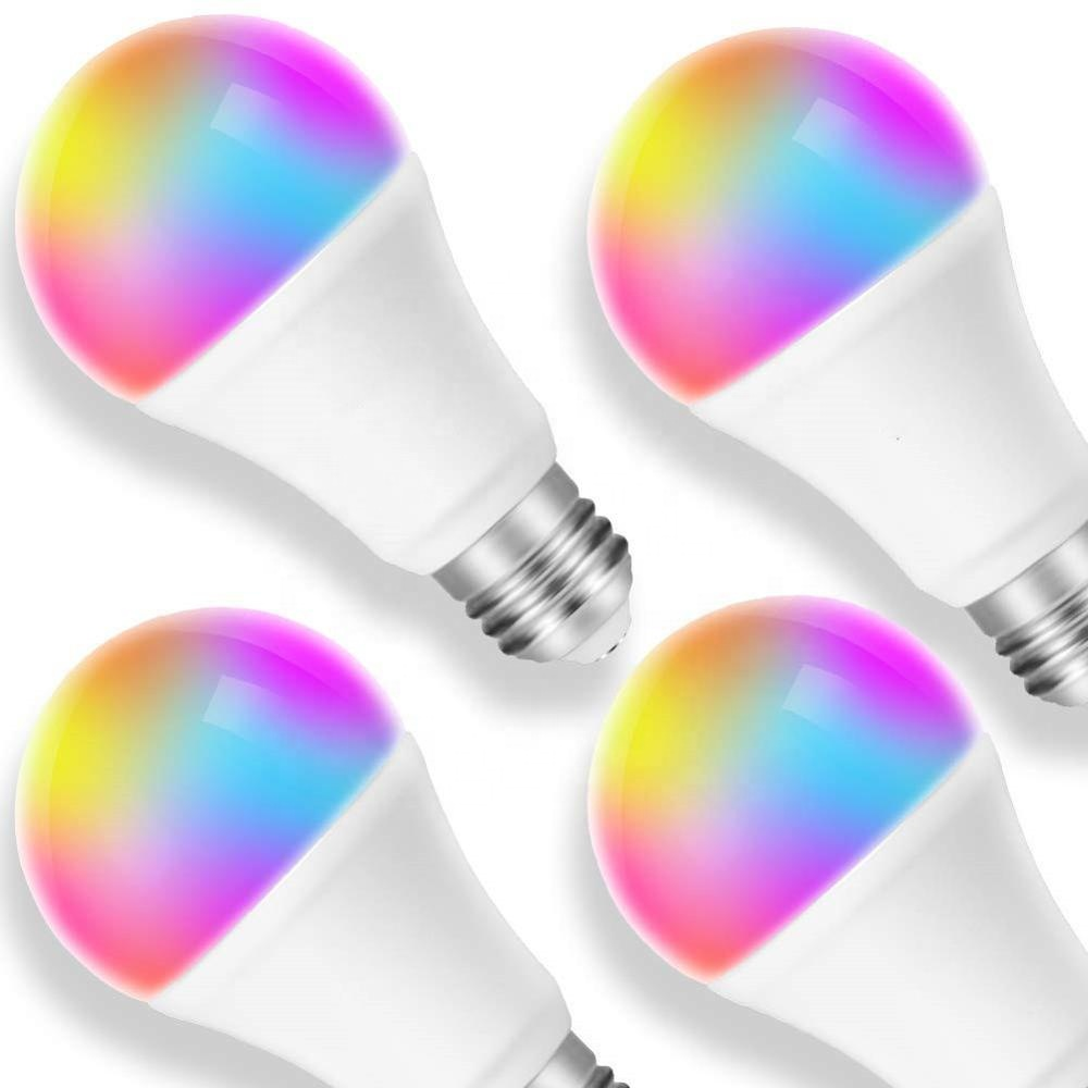 google home alexa 7W 6500K+ 1600RGB+warm white wifi <strong>bulb</strong> color change smart phone control E26 E27 r80 wifi led <strong>bulb</strong>