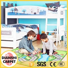 Loop Pile Polyester Carpet Woven Printing CE Baby Play Mat