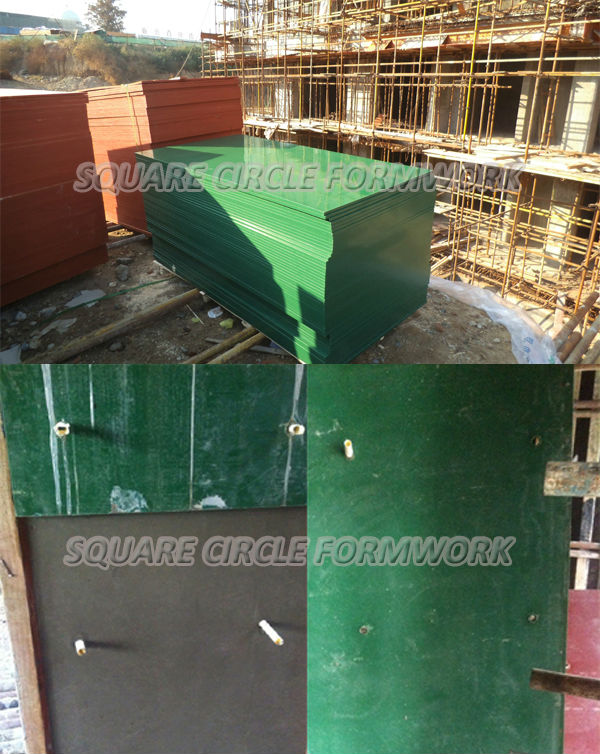 PP plastic coated phenolic board formwork for construction