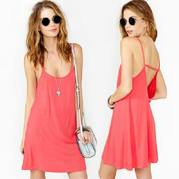 New 2015 Women sexy Spaghetti strap dresses sleeveless hollow out sexy club dresses summer casual party dresses female