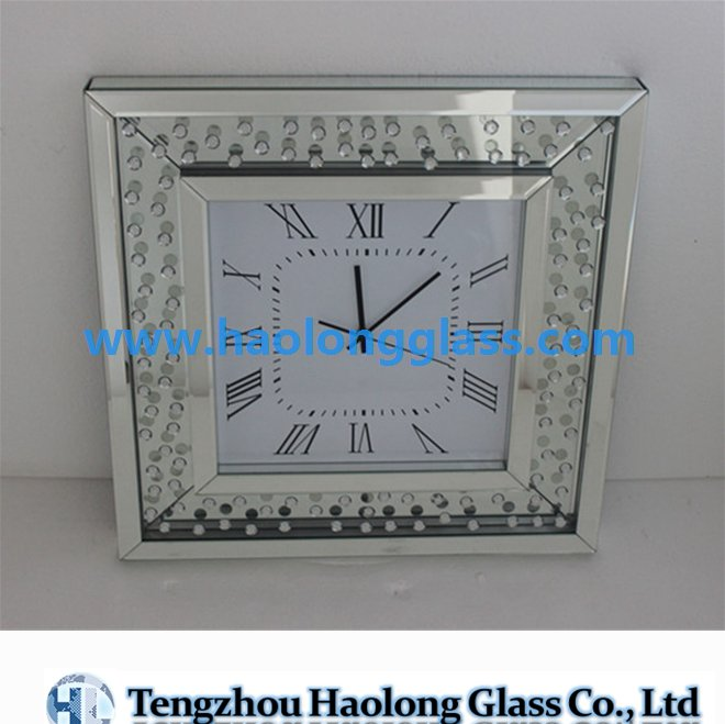 decorative wall mirror clock