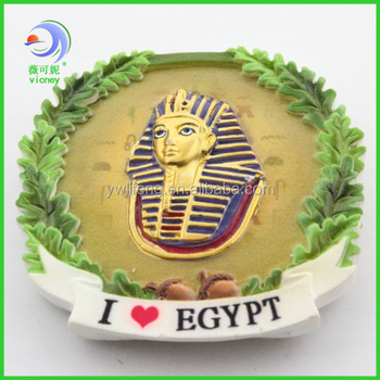 Egypt Round Resin Magnet ,Souvenir Resin Magnet