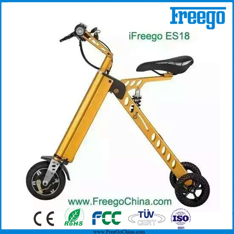 Adult electric 3 wheel scooters, electric folding bike bicycle 250W
