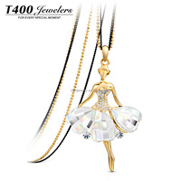 T400 crystal from swarovski princess pendant necklace jewelry 7902