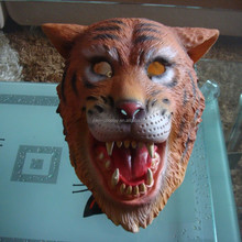 Sexy Full Head Latex Tiger Mask 3d Animal Mask