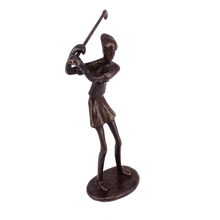 Antique bronze golf statues female olf metal sculptures