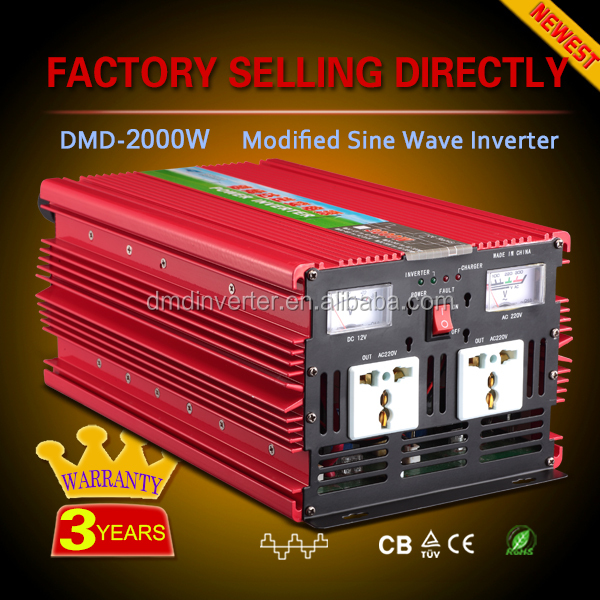 Modified sine wave off grid single phase used inverters and converters 12v 24v 220v dc ac 2000w 3000w
