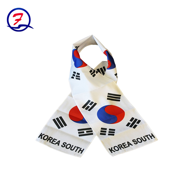 2018 world cup soccer South Korea national team god bless square neck fan cowl neck football scarf pattern