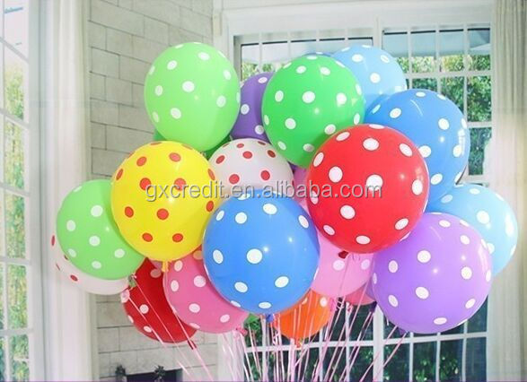 Assorted Colors Polka Dots Balloons