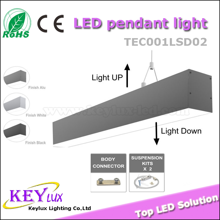 CE Certificate 3-5 Years Warranty Linear Pendant LED Light Up and Down