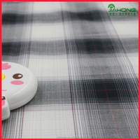 Fashion fabric soft gradient grey color plaid cotton rayon dress fabric