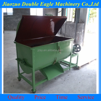 industrial horizontal animal blender/ dry poultry cattle feed mixer