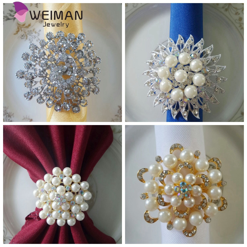 Weiman Factory Wholesale fashion crystal Napkin ring for Party Dinner Table Decoration