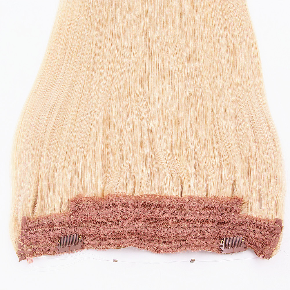 Best Quality Halo/Flip Human Hair Extension,100% Remy Virgin Cuticle Brazilian Hair