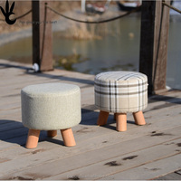 Small stool Art wood design Low sofa Soft Comfortable Simple childrens sofa