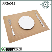 decorative &colorful plastic woven placemat used on table