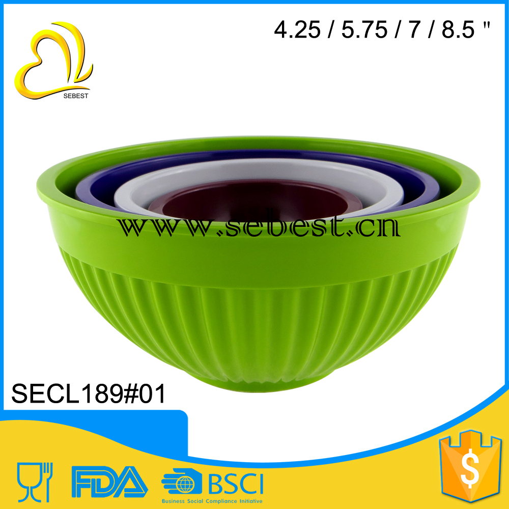 factory direct sale solid colored melamine salad plastic mixing bowl