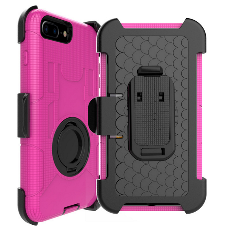 Drop resistant clip holster case for iPhone 7 iPhone 8 rubber armour