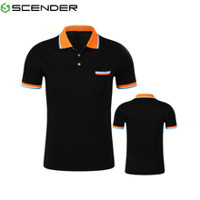High Quality pure color pullover polo shirt