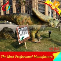 2000USD for March trade promotion !! 10 pcs only ! Dinosaur Theme Park Artificial Animatronic Dinosaur Video