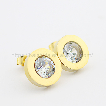 latest simple stud earrings style bling bling jewelry wholesale