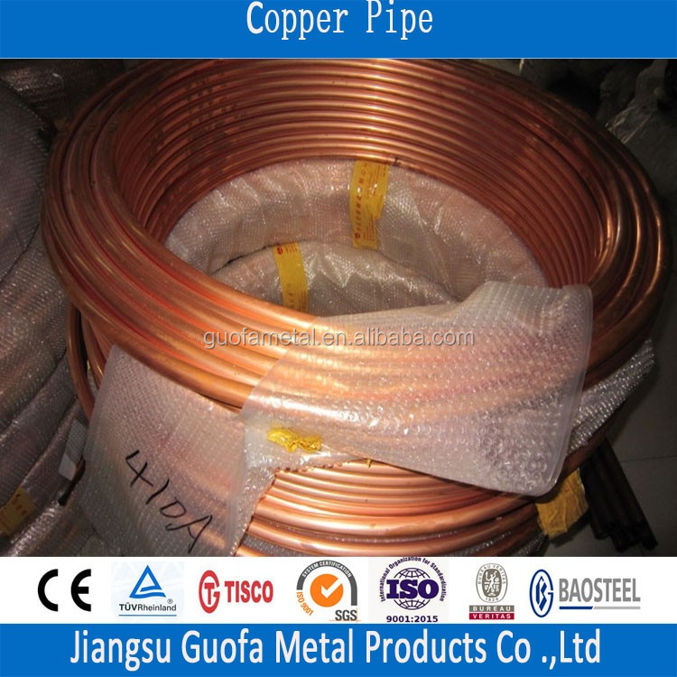 C12000 C1220 Pancake Coil Copper Pipe For Air Condition