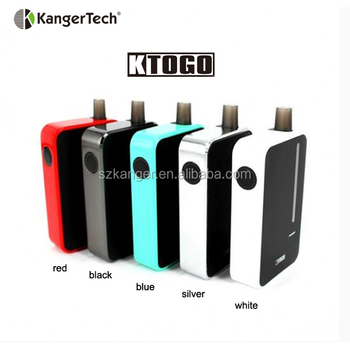 Authentic Kanger KTOGO Closed System Electronic Cigarette 2000mAh Silver 6ml All in One Starter Kit-AKD series