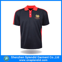 Custom 8xl embroidery designs logo 100 black polyester microfiber polo shirt