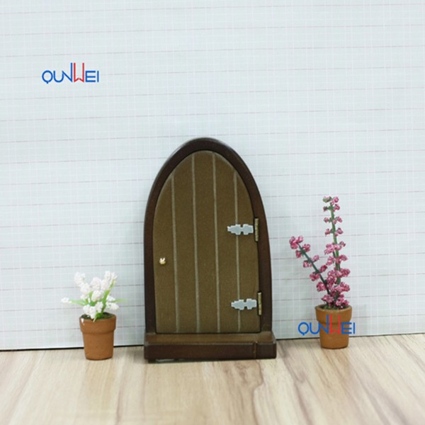 1:12 Eco-Friendly Handmade/DIY Miniature Dollhouses Natural wood Furniture Home Decor Wooden Garden Fairy Doors QW60551