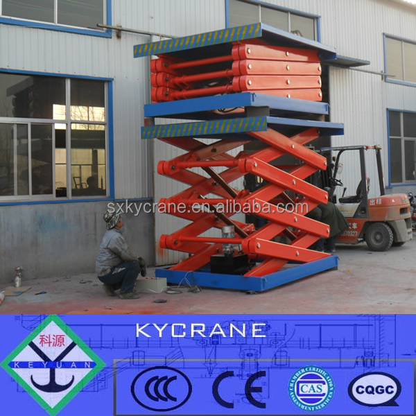 Scissor Lift Mechanism statinary hydraulic lift platform for warehouse and cars