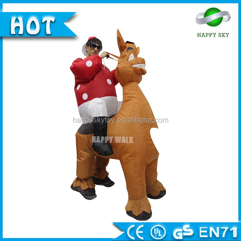 Giant Turkey Character Inflatable Mascot Costume Attractive Christmas Costume