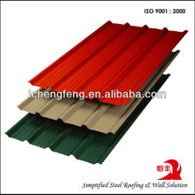 SGCC Galvanized Corrugated Precoated Roofing Tiles for Houses