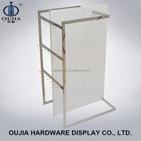 high quality belt display fixture/fashion belt display stand/floor standing belt and tie rack