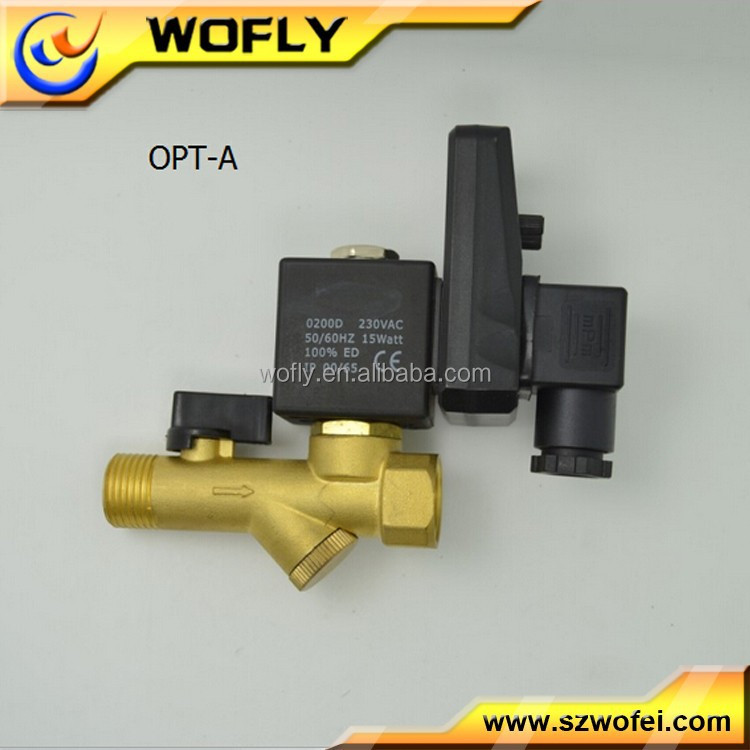 OPT timer air compressor auto drain blow down valve