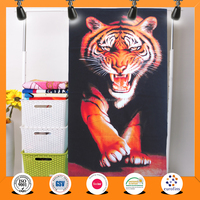 Factory supply OEM velour cotton Animals printed Beach Towel, OEKO-TEX standard Beach Towel