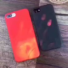 2017 New Creative Thermal Induction Color Changing PC Phone Case for iPhone 7