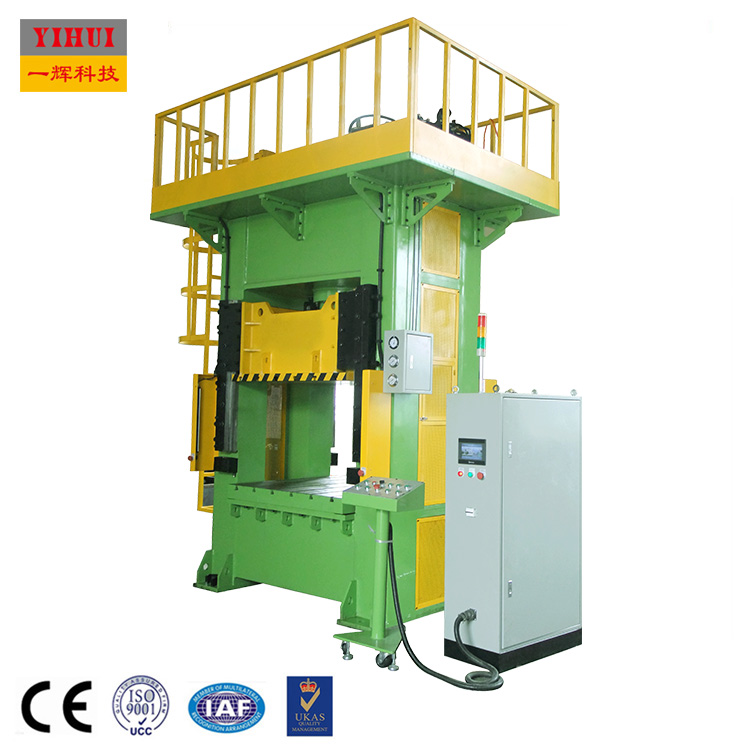 Hydraulic Embossing Press 400 ton car number plate making servo molding straight side forming machine