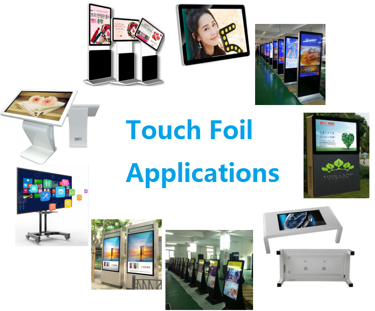 24 inch usb touch screen panel Multi Touch screen Foil film, Holographic Nano Touch Screen Foil through glass