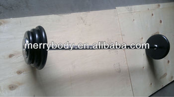Adjustable Long bar rubber coated dumbbell/barbell for club use