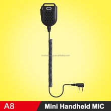 Mini Portable Hand MIC Handheld Microphone Shoulder Speaker For Kenwood Baofeng 888S UV5R Walkie Talkie Two Way Radio