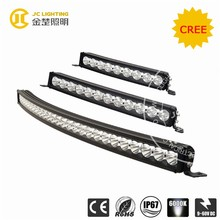 "60W/90W/120W/270W/ 11""18""23""50 inches single row 12volt curved led offroad light bar with spot/flood beam"