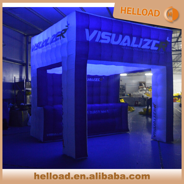 Custom large inflatable tent/inflatable lighting tent/inflatable bar counter for party