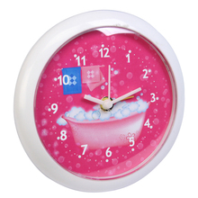 Modern kitchen accessory round Quartz plastic magnetic fridge clock