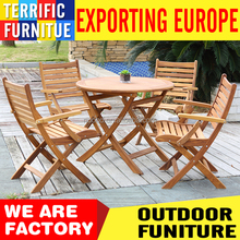 comofortable outdoor wooden furniture teak wood patio dining sets chairs and table