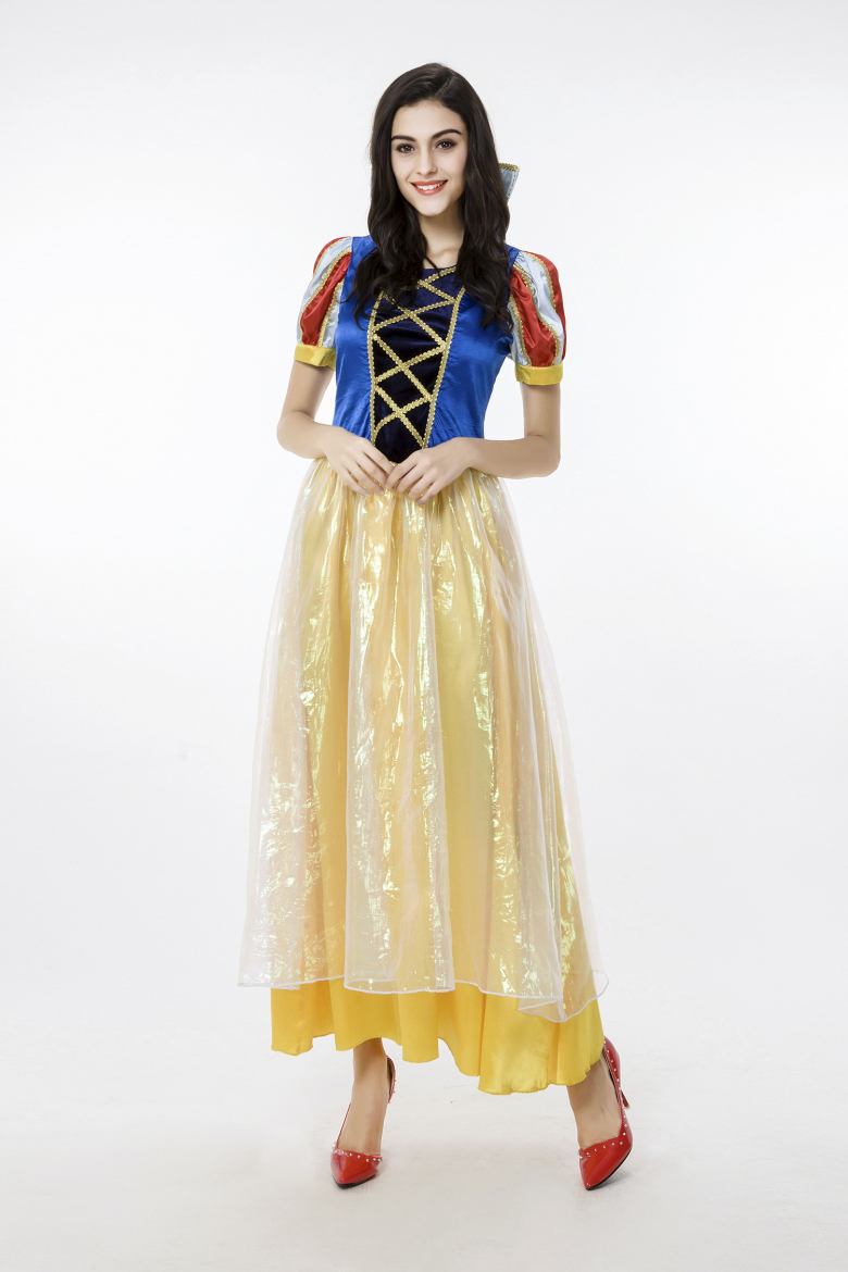 buy women adult snow white princess cosplay costumes long dress for