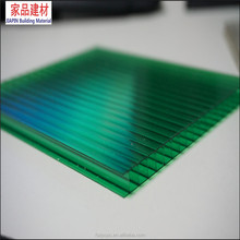 4mm green Hollow Polycarbonate Sheet