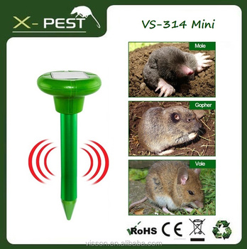 Mole Repeller Solar Powered Sonic Mole Repellent Repel Mole Vole Gopher Rat Mice Groundhog Rodent Pest Repeller for Garden Yard